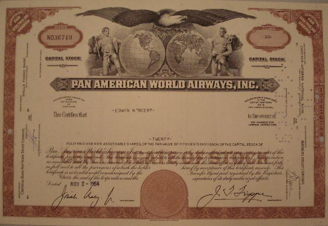 PanAm Pan Am Pan American World Airways